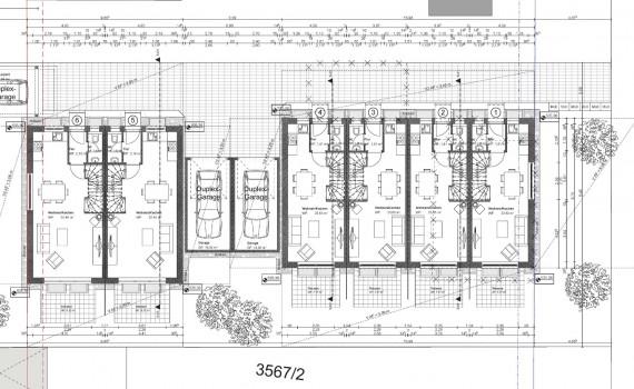 Von Friedl Immobilien für 2016 geplantes Objekt in München Neuaubing: Grundriss der Erdgeschosse der Anlage